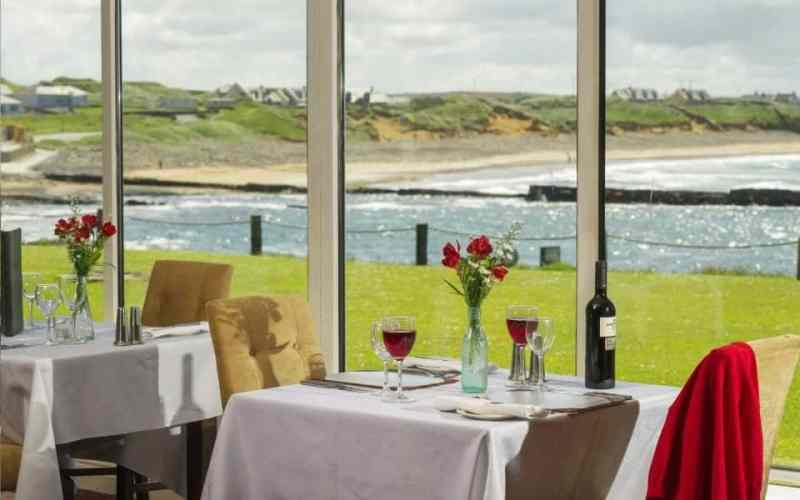 a view of the WAW from the dining room of The Pearl