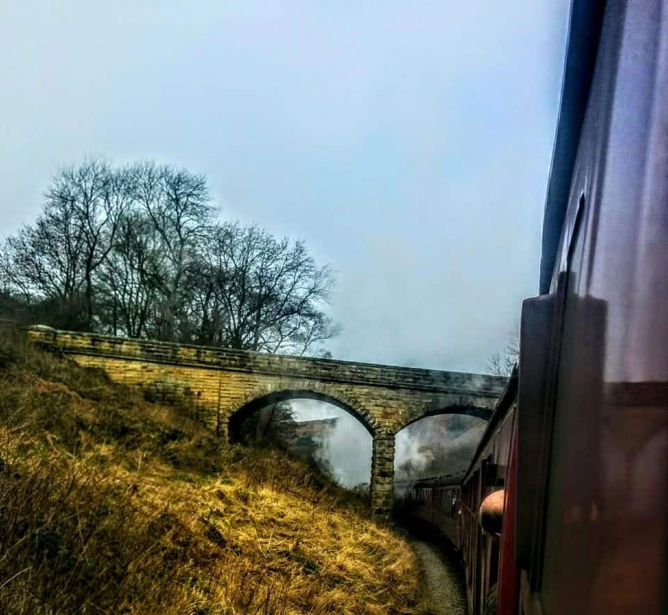 North Yorkshire Moors steam train journey