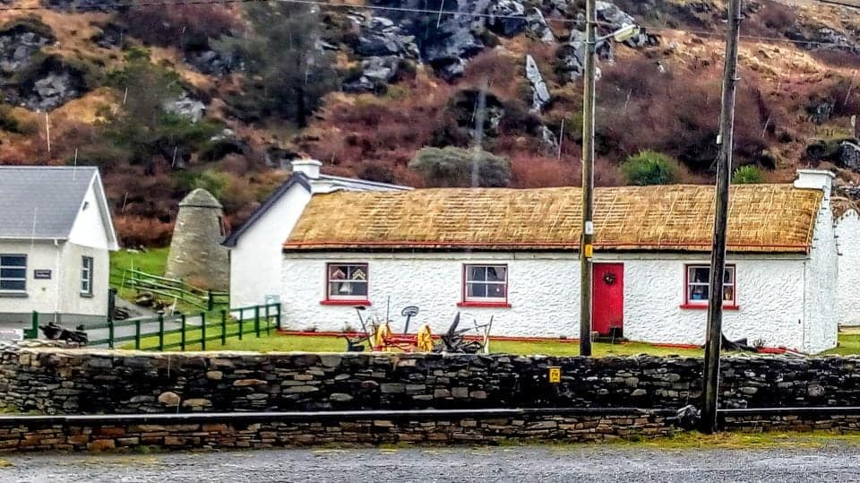 be prepared for lots of places to be closed in the winter months when visiting Ireland - this is a photo of the Folk Village in Glencolumbkille that is closed for the season