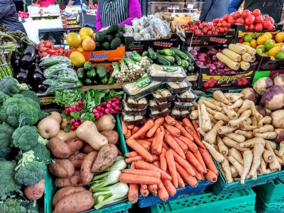 veggies at the Milk Market in Limerick