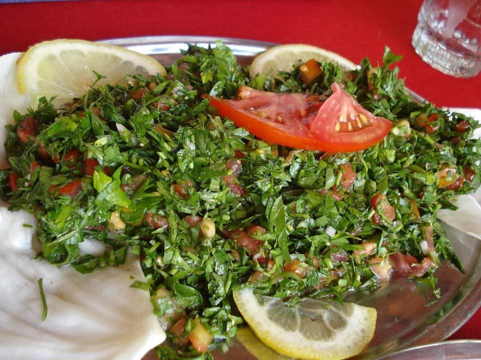 tabbouleh a traditional food in Cyprus