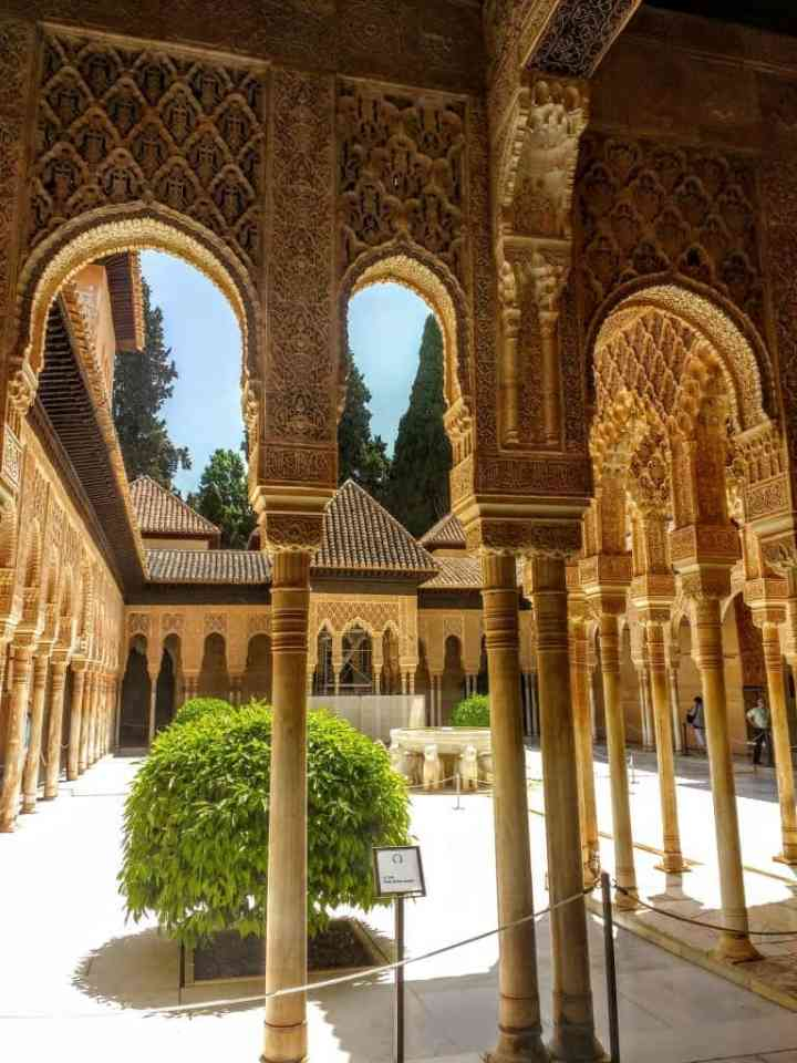 Courtyard of the Lions Granada Spain
