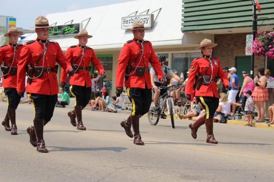 Mounties on parade in Toronto | experience in Toronto