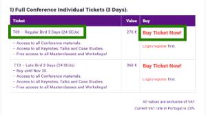 Step 01: Buy a 3-days Ticket