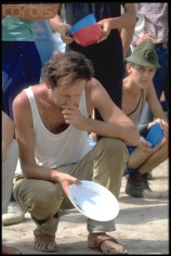 11 Aug 1992, BANJA LUKA, Bosnia-Herzegovinia, Yugoslavia --- PRISON CAMP AT TRNOPOLJE IN BOSNIA --- Image by © Patrick Robert/Sygma/CORBIS