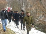 Σύγχρονοι τσέτνικ (chetnik) με στολές του Β' ΠΠ σε μυστικό αντάμωμα τσέτνικ.