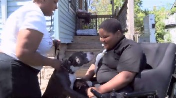 Shi Shi the missing help dog is returned to paralyzed Xzavier Davis-Bilbo by mystery woman Lynette