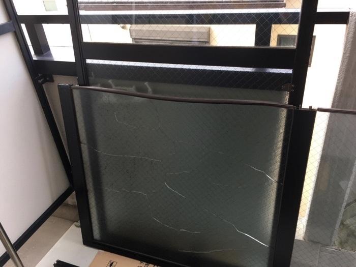 窓ガラス交換作業-2