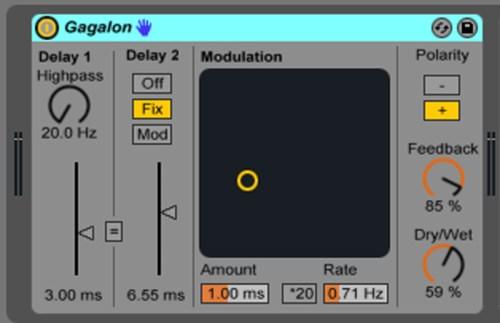 Live9のエフェクトを遊ぶ。24『Gagalon』