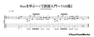 読譜入門~TAB譜