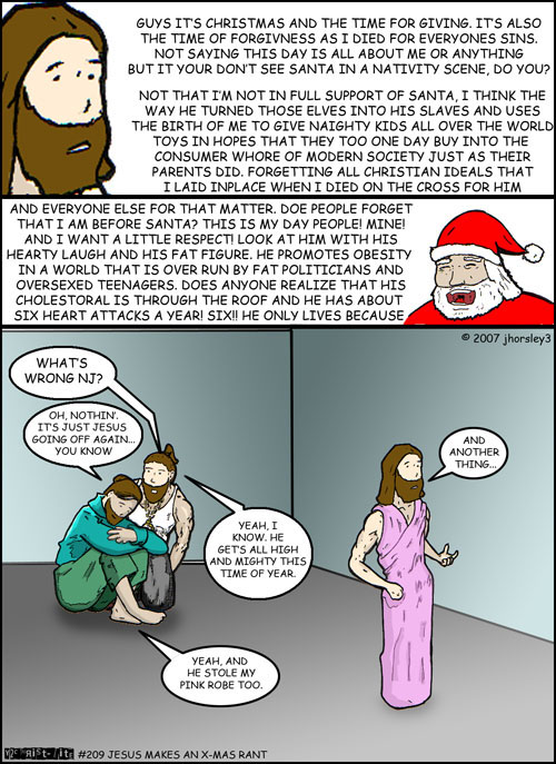 Jesus Makes an X-Mas Rant