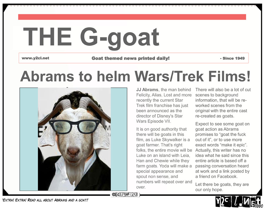 Extra! Extra! Read All About Abrams And A Goat!