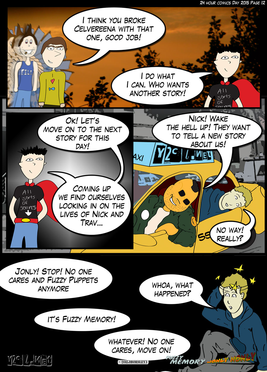 24 Hour Comics Day 2015 Page 12 – Fuzzy What?