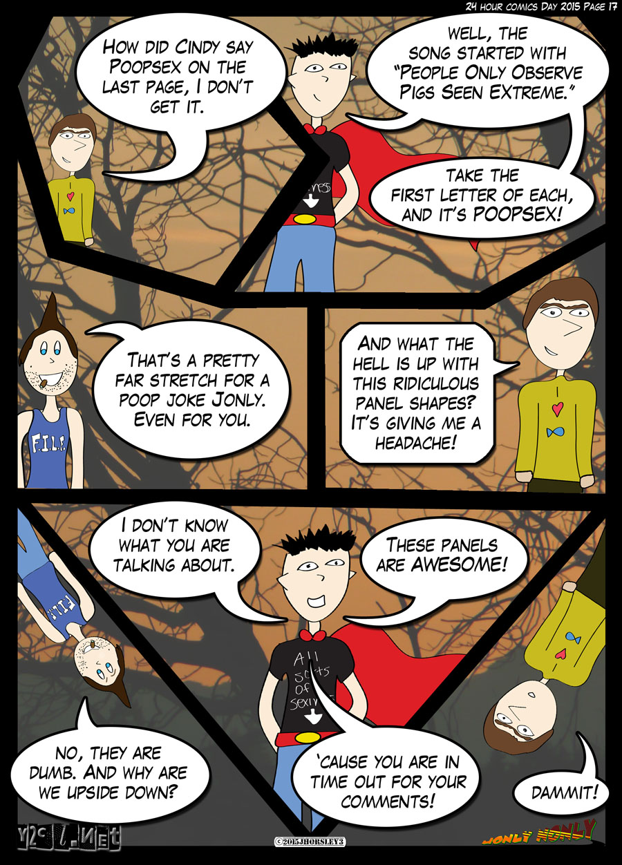 24 Hour Comics Day 2015 Page 17 – Crazy Panels!