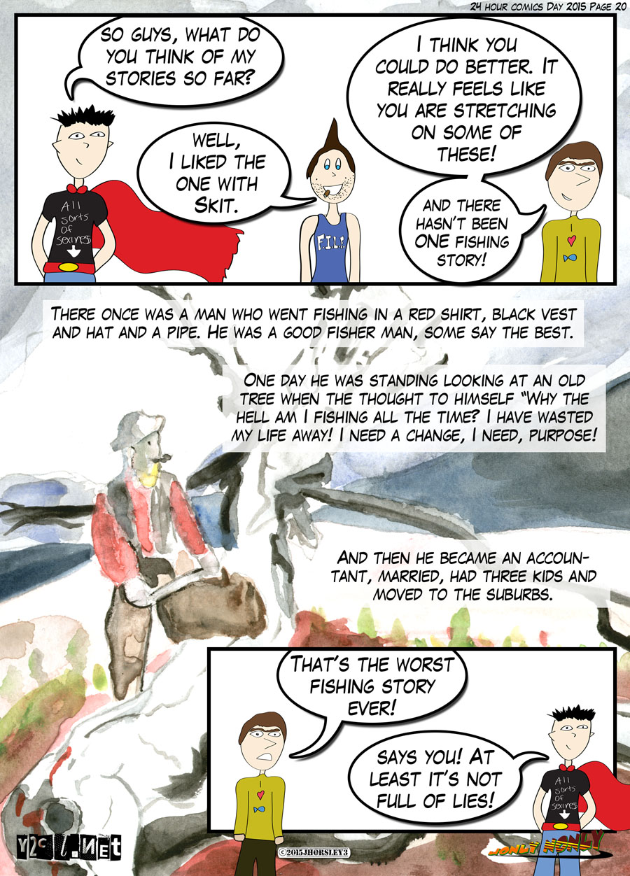 24 Hour Comics Day 2015 Page 20 – Fishing Story