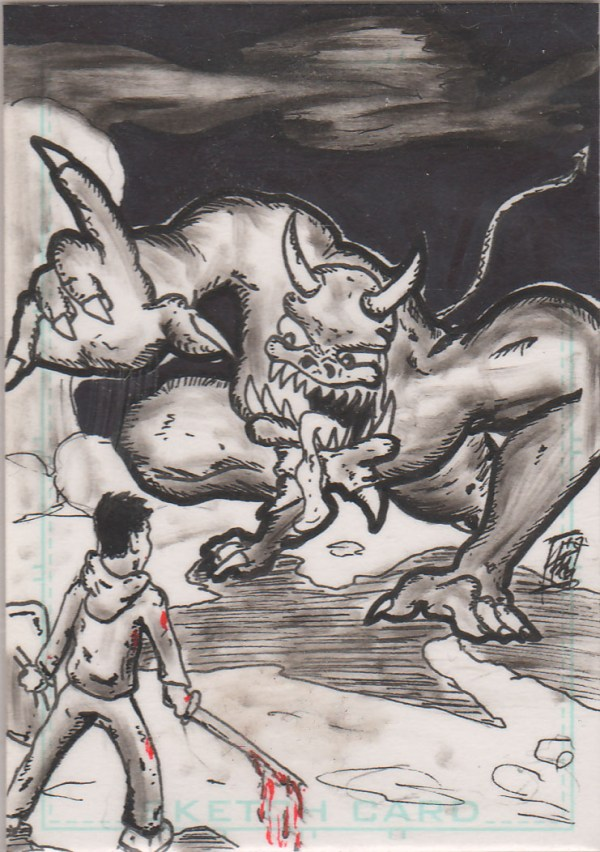 JN vs Demon Sketch Card