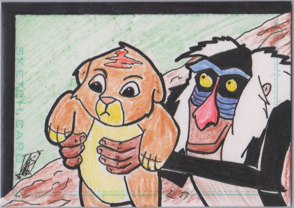 Lion King Sketch Card