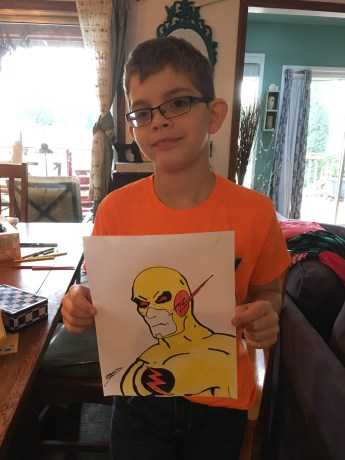 Jakob and his Reverse Flash.