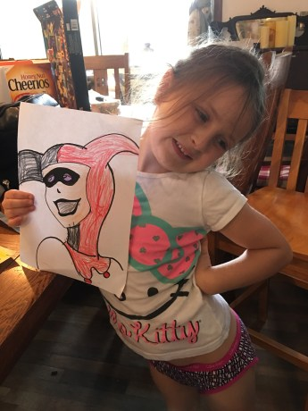 Tegan and her Harley Quinn.