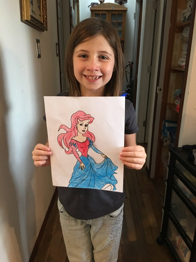 Saidey and her Ariel.