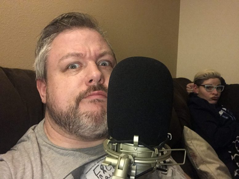 John's podcasting face.