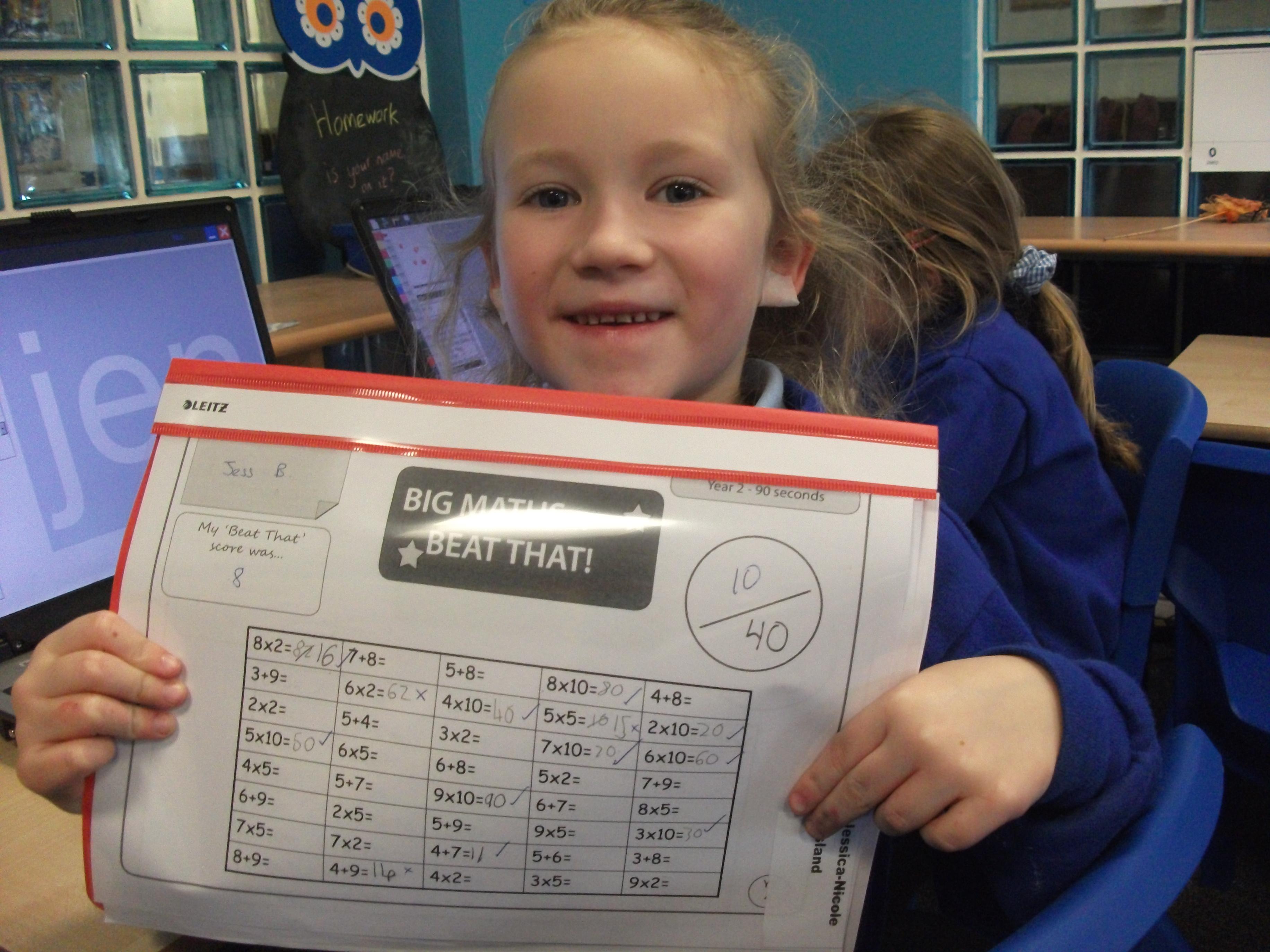 Big Math Worksheet Year 2