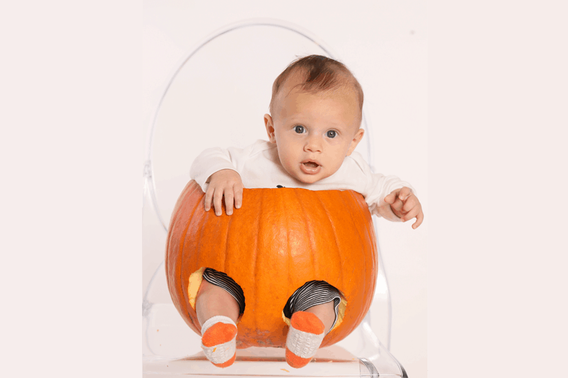 Finn in a pumpkin