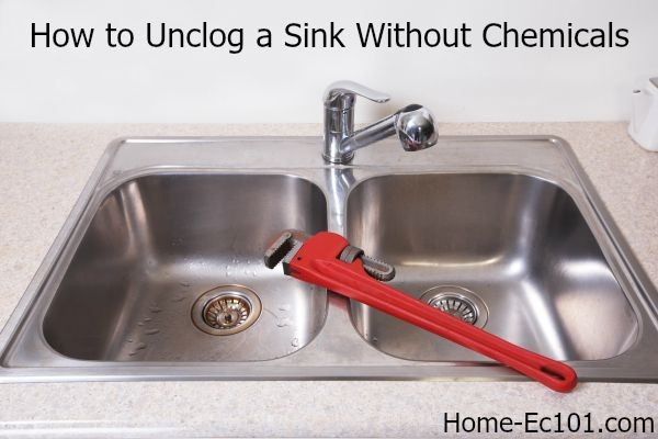 how to unclog a kitchen sink naturally