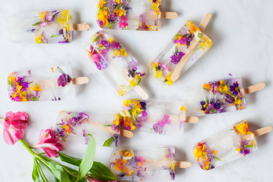 These Flower Ice Pops Are Almost Too Beautiful To Eat