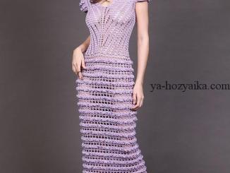 платье, каталожная модель ,схемы. вязаный подиум