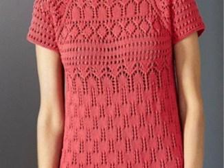 Платье спицами с узорами