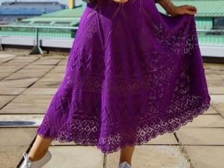 Летняя фиолетовая юбка