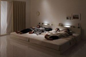 LED付きファミリーベッド(ブラック・ホワイト)