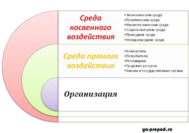 Внутренняя и внешняя среда организации среда менеджмента  Структура внешней среды