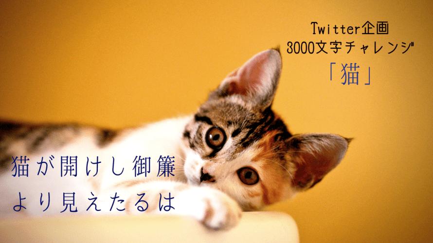 【3000文字チャレンジ】猫が開けし御簾より見えたるは·····