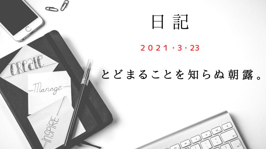 【日記】2021/3/23 とどまることを知らぬ朝露。