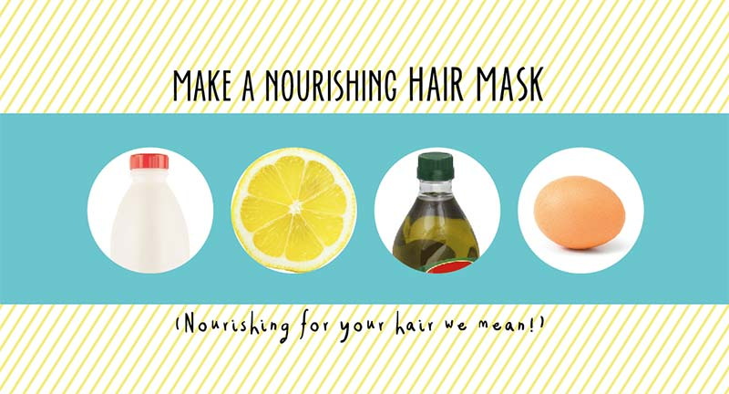 Make a homemade hair mask from stuff that's probably in the kitchen already