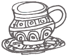 Food & Travel Illustration by Yaansoon | The Illustration Blog of a Nomadic Mediterranean Foodie | Pen and ink spot illustration of a North African teacup