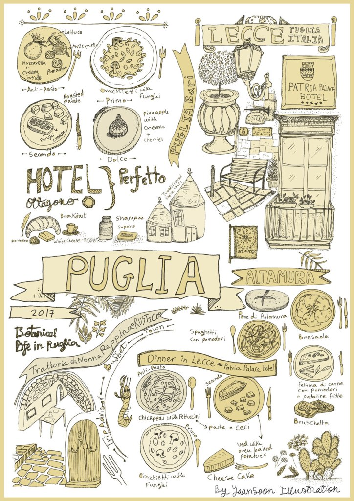 Italy Culinary Tour: Illustrated Map of Puglia