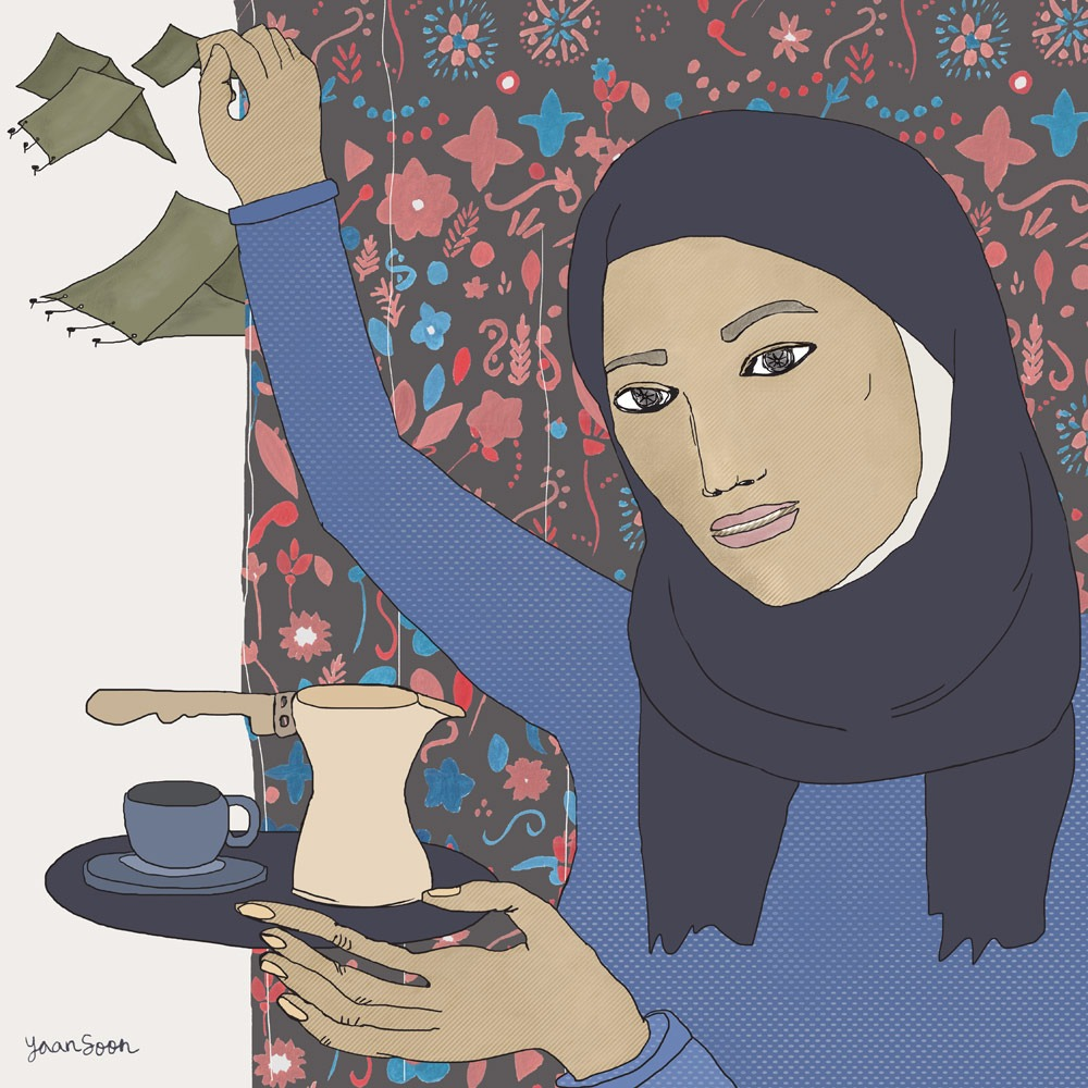 Um Fouad's Coffee Ritual: A Female Syrian Refugee's Recipe for Hope amid Adversity
