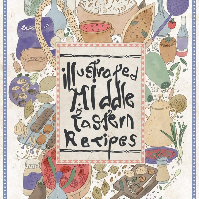 Illustrated Middle Eastern Recipes - Food Stories by a Multi-Cultural Couple | Middle Eastern Food Illustration, Illustrated Recipes, Food Illustration | By Yaansoon Illustration + Art