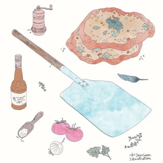 Lahmacun: Turkish Pizza with an Italian-Lebanese Twist | By multi-cultural illustrator and artist Yaansoon Illustration + Art | Illustrated Recipes, Food Illustration, Turkish food, Middle Eastern food, Middle Eastern cuisine, Food stories, Mediterranean cuisine, Watercolour, Ink Drawing, Ingredients