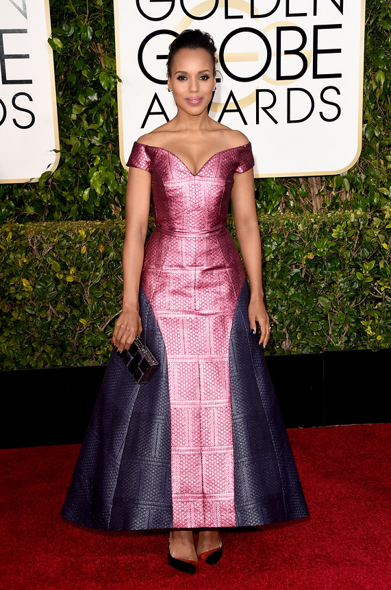 Kerry Washington in Mary Katrantzou and Neil Lane jewelry