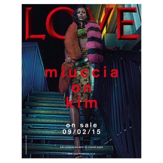 kim k love magazine