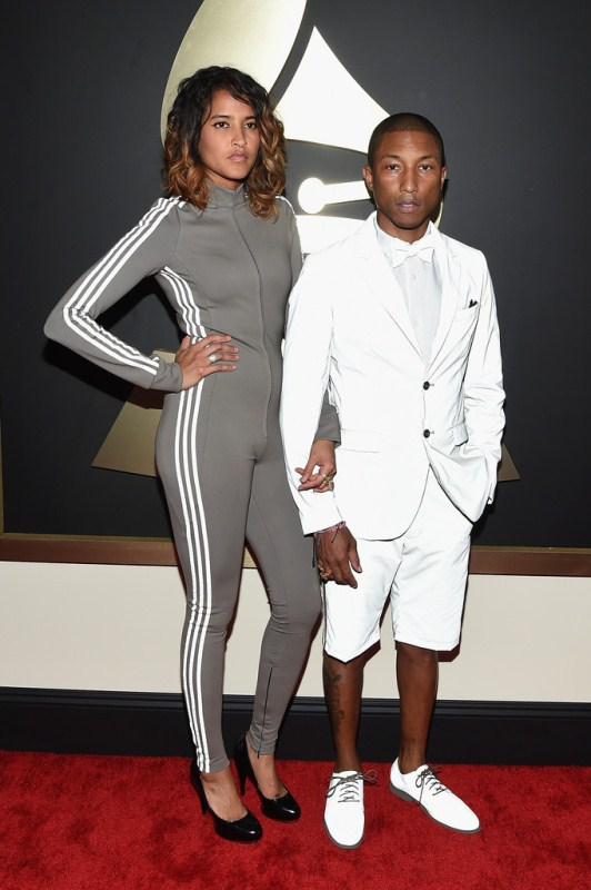 pharrell-williams-helen-lascichanh-grammy-awards-adidas