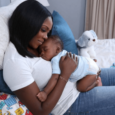 Too Cute! Tiwa Savage Shares Photos Of Her Son