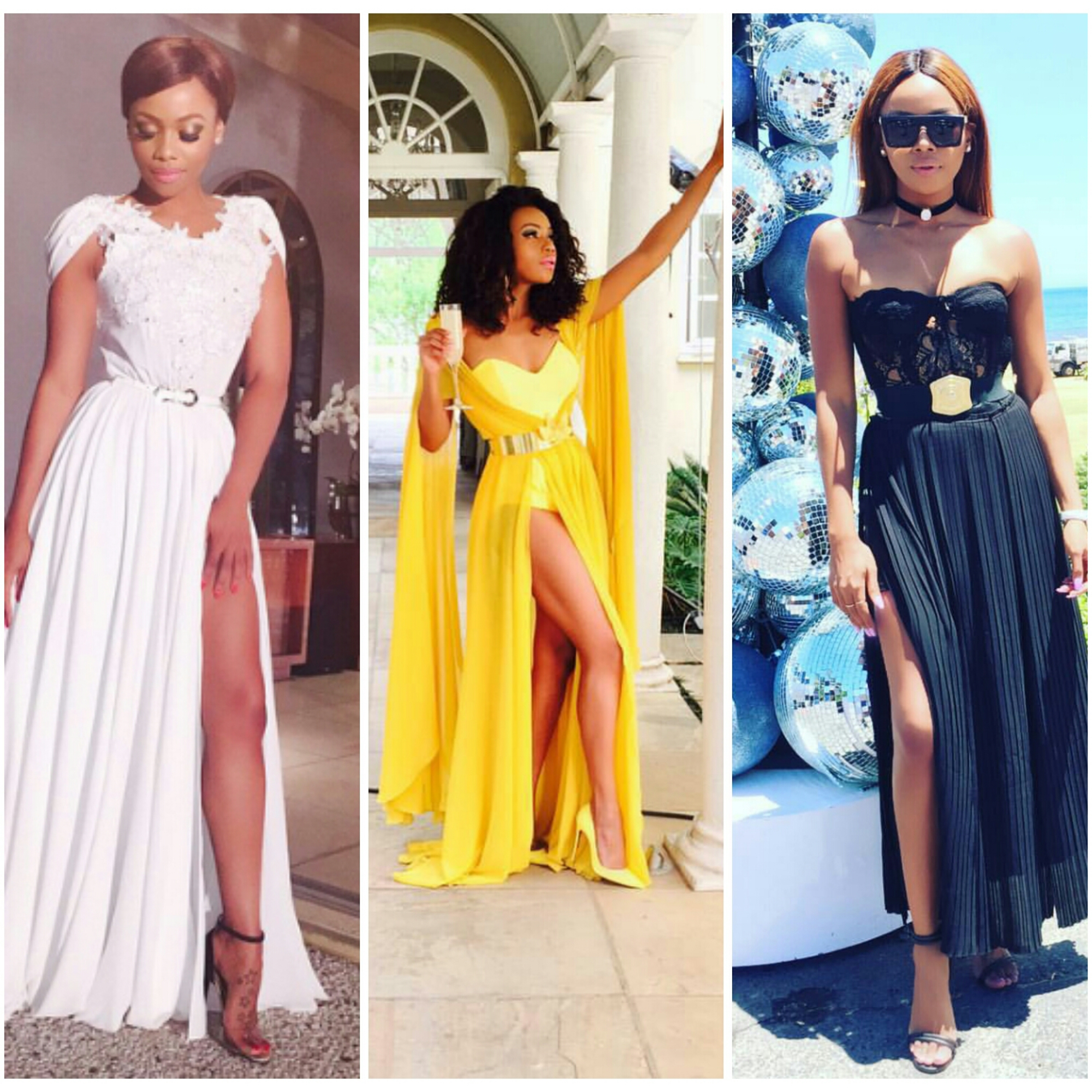 The Countless Times Bonang Matheba Dazzled In Thigh High Slit Dresses