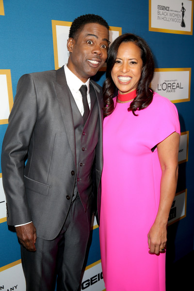 Chris Rock and President of Essence Communications Michelle Ebanks