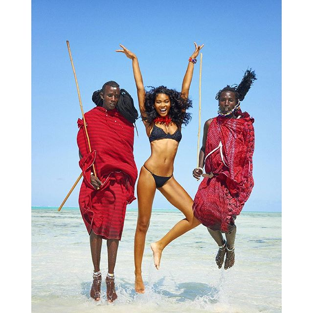What Happened When Sexy Sports Illustrated Models Met Maasai Warriors In Zanzibar