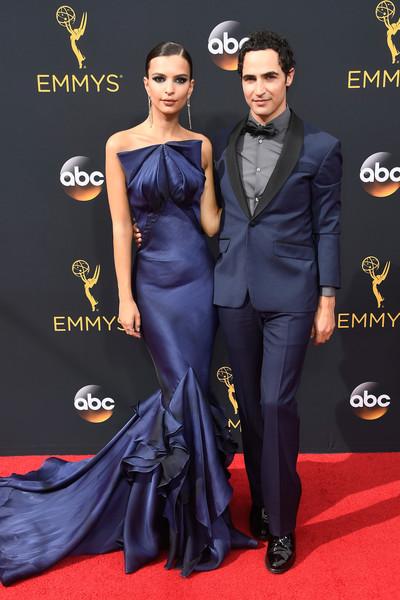 Actress Emily Ratajkowski and designer Zac Posen
